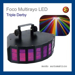 Alquiler Foco Multirayo LED Triple Derby