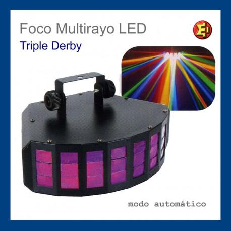 Alquiler Foco Multirayo LED Triple Derby