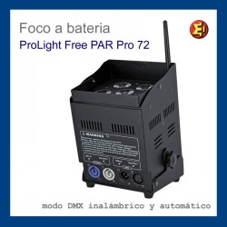 Foco Bateria ProLight Free PAR 72