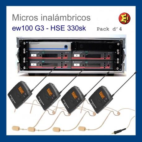 Alquiler pack 4 Sennheiser ew-100 G3