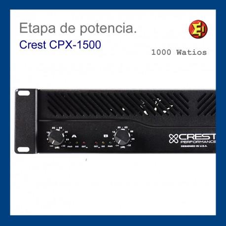 Alquiler Etapa de potencia CREST CPX-1500