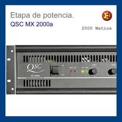Alquiler Etapa de potencia QSC MX-2000a