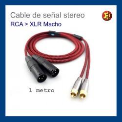 Cable de señal stereo RCA-XLR3 female