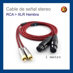 Cable de señal stereo RCA-XLR female