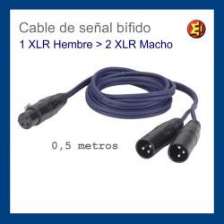 Cable de señal bífido - 1 XLR h - 2 XLR m