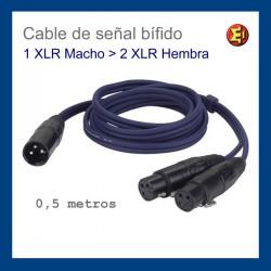 Cable de señal bífido - 1 XLR m - 2 XLR h
