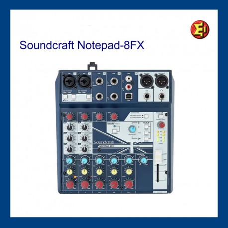 Alquiler Soundcraft Notepad 8FX