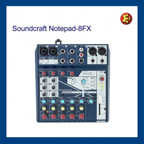 Lloguer Soundcraft Notepad 8FX