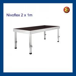 Tarima escenario Nivoflex 2x1