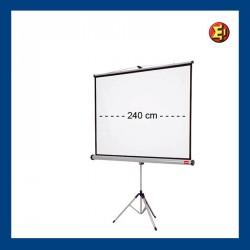 Alquiler pantalla de proyección trípode 240