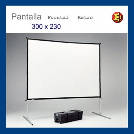 Alquiler pantalla de proyección marco 300x230
