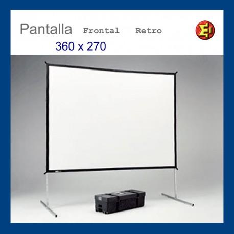Pantalla de proyección marco 360x270