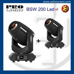 Pareja de Cabezas Móviles BSW 200 LED