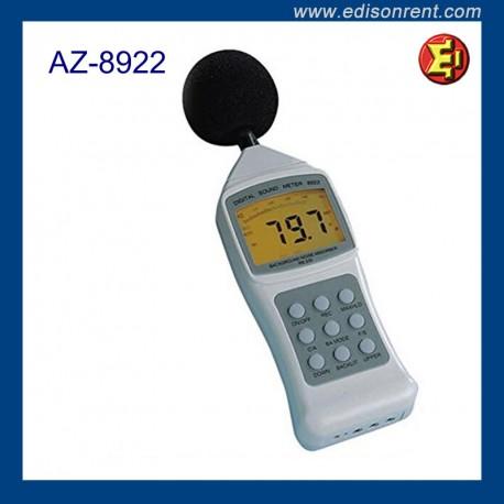 Alquiler Sonómetro Digital AZ8922
