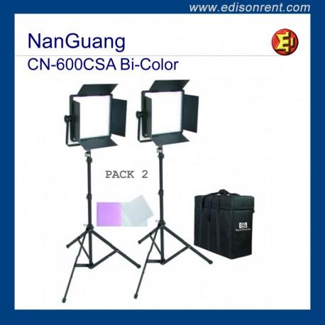Foco Panel LED a batería. NanGuang CN-600CSA Bi-Color