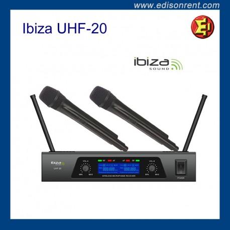 Alquiler micrófono Ibiza UHF-20