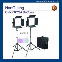 Foco Panel LED a bateria. NanGuang CN-600CSA Bi-Color