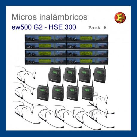 Alquiler pack 8 Sennheiser ew-500 G2