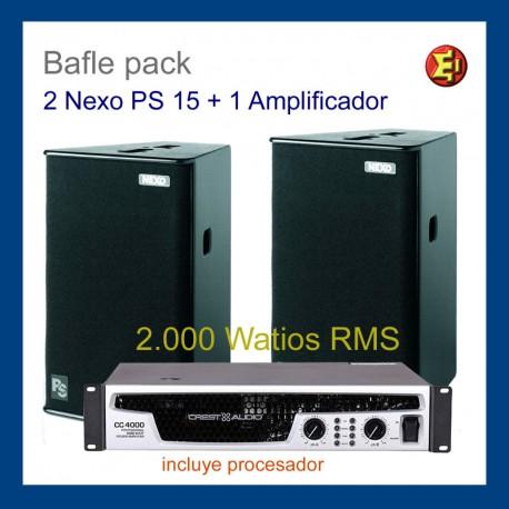 Alquiler Equipo NEXO PS15 2.000 Watios