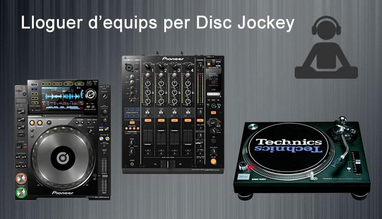 Equips per DJ