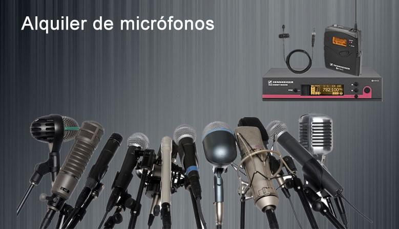Alquiler de microfonos